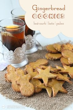 Coconut Flour Gingerbread Cookies (low-carb, keto, paleo, nut-free)