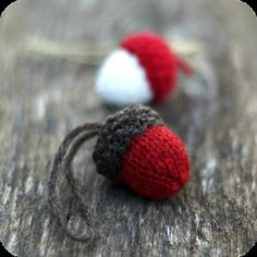knit ornament patterns | Knit Acorn Christmas Ornament Pattern Rustic by ... | Knitt and Croch ...