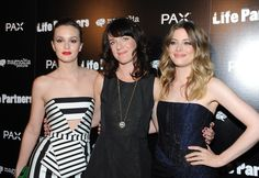 Leighton Meester, Susanna Fogel and Gillian Jacobs at the LA Premiere of 'Life Partners' Magnolia Pictures, In Hollywood, Hollywood California, Gillian Jacob, Strapless Dress Formal, Formal Dresses, Leighton Meester, Life Partners, Red Carpet