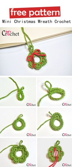 59 Ideas crochet christmas wreath diy projects for 2019 - Wreath Ideen Crochet Christmas Wreath, Crochet Wreath, Crochet Christmas Decorations, Holiday Crochet, Diy Christmas, Christmas Wreaths, Crochet Ornament Patterns, Diy Crochet Ornaments, Free Christmas Crochet Patterns