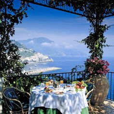 View from Hotel Santa Caterina, Amalfi Coast, Italy