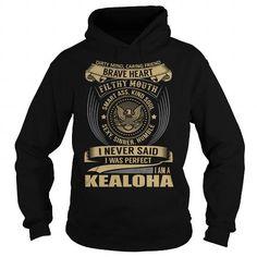 Cool KEALOHA Last Name, Surname T-Shirt T shirts