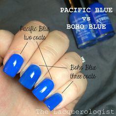 Sally Hansen Hard As Nails Xtreme Wear ORIGINAL Pacific Blue vs Boho Blue: Dupes?! Sally Hansen Nails, Pacific Blue, Manicure, Nail Polishes, Dupes, Boho, The Originals, Contrast, Instagram Posts