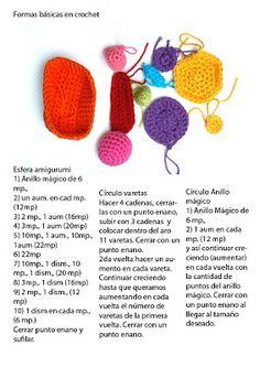 formas basicas de ganchillo o crochet ❥Teresa Restegui http://www.pinterest.com/teretegui/❥