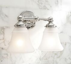 Trudi's bathroom  Sussex Double Sconce #potterybarn