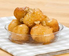 This Greek fried dough or Loukoumathes recipe dates all the way back to the original Olympic games where they were served to the victors. Greek Sweets, Greek Desserts, Greek Recipes, Just Desserts, Greek Fries, Greek Cookies, Greek Pastries, Boston Food, Bread Appetizers