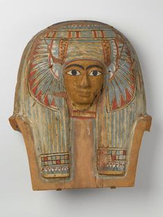 Face from a Wooden Coffin Lid Date: circa 945-715 B.C.E.