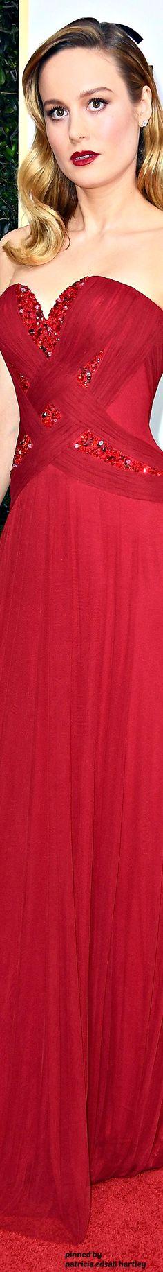 Brie Larson - 2017 Golden Globes Red Carpet (Rodarte)