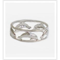 Wide Dolphin Toe Ring