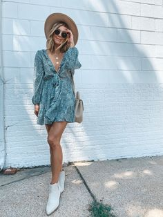 Cute Casual Outfits, Boho Outfits, Pretty Outfits, Spring Outfits, Fashion Outfits, Brunch Outfit, Brunch Dress, Western Outfits, Spring Summer Fashion