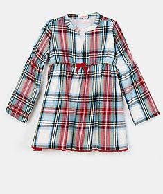Vestido de xadrez em algodão