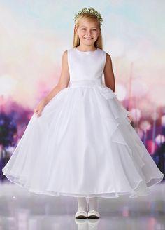 c5ffe707571 Joan Calabrese 119385 Bow Waist First Communion Dress