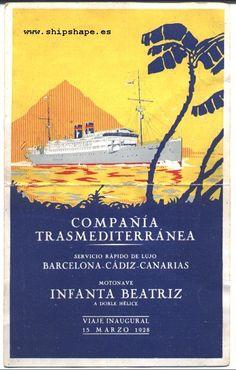 COMPAÑÍA TRASMEDITERRÁNEA, motonave Infanta Beatriz 1928