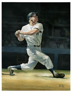 66f2b4abc8 The Mick at the plate - Rich Marks. http   fineartamerica.com