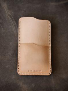 "Bas and Lokes Leather Goods - ""Judas"" Vegetable Tan Handmade Leather iPhone 6 Sleeve, $89.00 (http://www.basandlokes.com/judas-vegetable-tan-handmade-leather-iphone-6-sleeve/)"