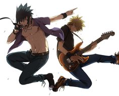 Lol saw this and found it amusing: Sasuke and Naruto in a band together