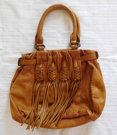 aead8b5907 ANTHROPOLOGIE LUCKY PENNY Butter Soft Leather Large PURSE SHOULDER BAG    EUC!  LuckyBrand  ShoulderBag