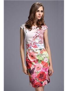 Sexy Floral Print Show Thin Waist  Little Party  Dress