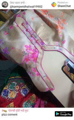 Neck design Chudithar Neck Designs, Neck Designs For Suits, Neckline Designs, Sleeves Designs For Dresses, Blouse Neck Designs, Kurti Back Neck Designs, Design Of Neck, Collar Designs, Salwar Suit Neck Designs
