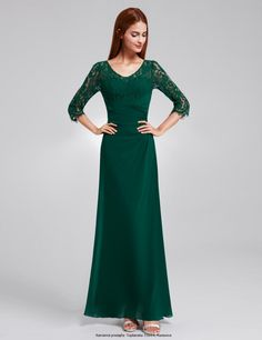 Ever Pretty Sleeve Lace Prom Evening Dresses Bridesmaid Maxi Dresses 08861 Long Sleeve Evening Gowns, Lace Evening Gowns, Long Prom Gowns, Mermaid Evening Dresses, Formal Evening Dresses, Prom Dresses, Dress Formal, Bride Dresses, Bridesmaid Dresses Plus Size