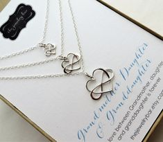 Generations jewelry infinity heart necklace in three
