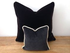 #Velvet Wedding #ThrowPillow Charcoal #Grey Small #Cushion  CushionsandMore on https://www.etsy.com/shop/CushionsandMore?ref=hdr_shop_menu