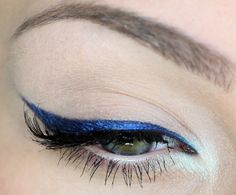 Cobalt blue winged eyeliner. Beauty.com has the perfect cobalt blue makeup to help you stand out!