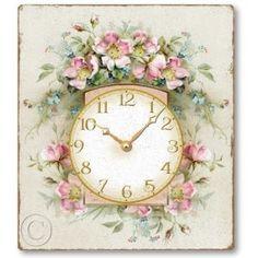 shabby clock - reminds me of Grandma T.
