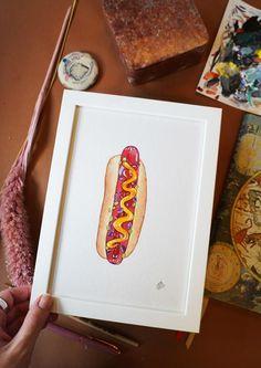 Håndmalede akvareller af Joanna Jensen. Kunst