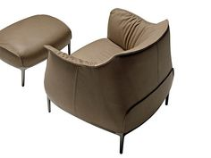 The Archibald Armchair by Italian furniture firm Poltrona Frau evokes that old-school look, but in a modern way. This armchair designed by Jean-Marie Massaud Italian Furniture, Modern Furniture, Furniture Design, Lounge Chair Design, Lounge Seating, Contemporary Dining Chairs, Modern Armchair, Take A Seat, Interiors