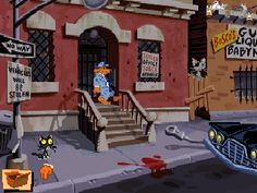 Sam and Max Hit the Road is an old Windows crime and mystery point & click adventure game developed by LucasArts Entertainment Company in 1993 from Frog Rock, Video Game Reviews, Tourist Sites, Classic Video Games, Adventure Games, Old Windows, Single Player, Mini Games, Old School