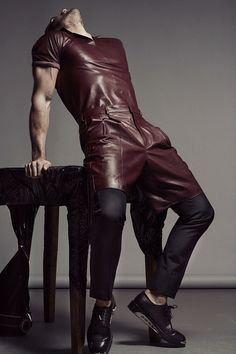 Every Man Needs a Pair of Leather Pants. Here's How to Wear Them. Visual Kei, Grunge, Mens Trends, Punk, Sharp Dressed Man, Stylish Men, Leather Fashion, Dapper, Editorial Fashion