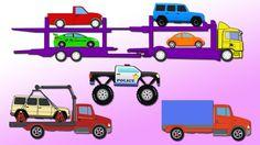 Desene Animate cu MASINI MARI. Camioanele. Camion Monstru Masina de Poli...
