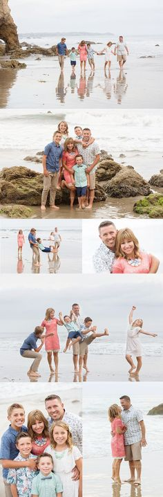 What to wear for family photos at the beach | Malibu, California