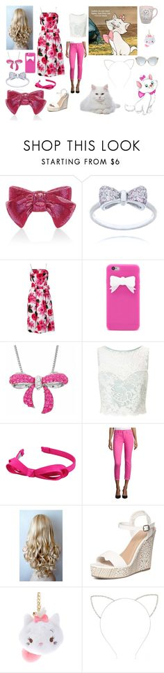 """""""Marie~Aristocats Inspired~Pink/White Outfit"""" by blondethinkpink ❤ liked on Polyvore featuring Judith Leiber, Forever 21, Amanda Rose Collection, Miss Selfridge, L. Erickson, Dorothy Perkins, Disney and Linda Farrow"""
