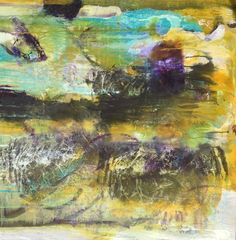 """""""The Tide"""" by Chris Foster; Mixed Media 36"""" x 36"""""""