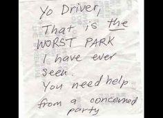 Parking Fails & More!: You need help! #parkingspace #carpark #badparking #parkingnote #parkingfail