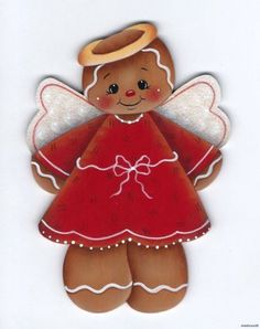 HP GINGERBREAD Angel FRIDGE MAGNET