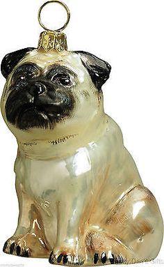 Joy To The World Fawn PUG Christmas ornament dog NEW