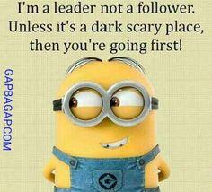 Funny Minion Joke About Leaders vs. Followers