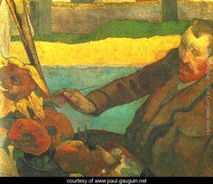 Vincent van Gogh Painting Sun Flowers.