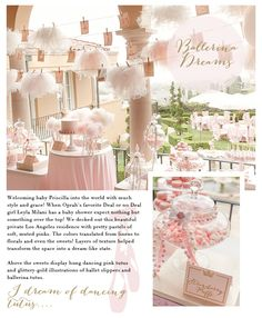 Ballerina Party: Classy and cute - perfect for a baby shower Ballerina Birthday Parties, Ballerina Party, Baby Birthday, Ballerina Baby Showers, Baby Ballerina, Snacks Für Party, Girl Shower, Shower Baby, Childrens Party