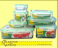 Get these 4 Side lock containers available from your nearest branch. They are ideal for food storage. Plastic Shop, Food Containers, Food Storage, Lunch Box, How To Apply, Snacks, The Originals, Kitchens, Fresh