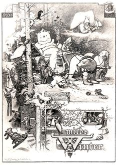 """""""Hermann Vogel is a virtually forgotten German artist who worked from (approximately) 1890s through the early teens of the 20th century. He illustrated a spectacular edition of Grimm's Fairy Tales with over 300 pictures."""""""