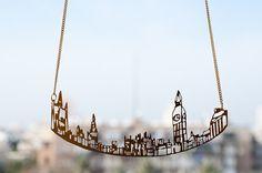 Collana donna, città collana, collana di Londra, Collane uniche per le donne…