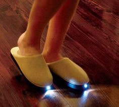 LED Slipper Invention Night Accessory I could use a pair of them lol!