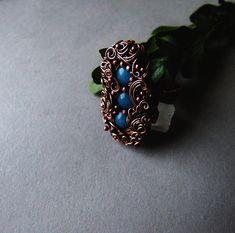 Blue Hyacinth Ring Delicate Spring Elvish Ring Gift for Her