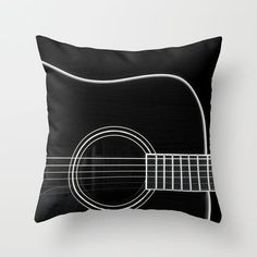 Mod Guitar Throw Pillow - could look cool embroidering it- a little imperfect stitching could make it look really cool