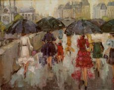 "Kathryn Trotter Art: ""Left Bank Ladies"" by Kathryn Morris Trotter Kathryn Morris, Rain Painting, Painting Of Girl, Fashion Painting, Umbrella Art, Umbrella Painting, Wall Art Sets, Art Sketchbook, Paris"
