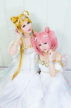 Usagi and Chibi-Usa cosplay